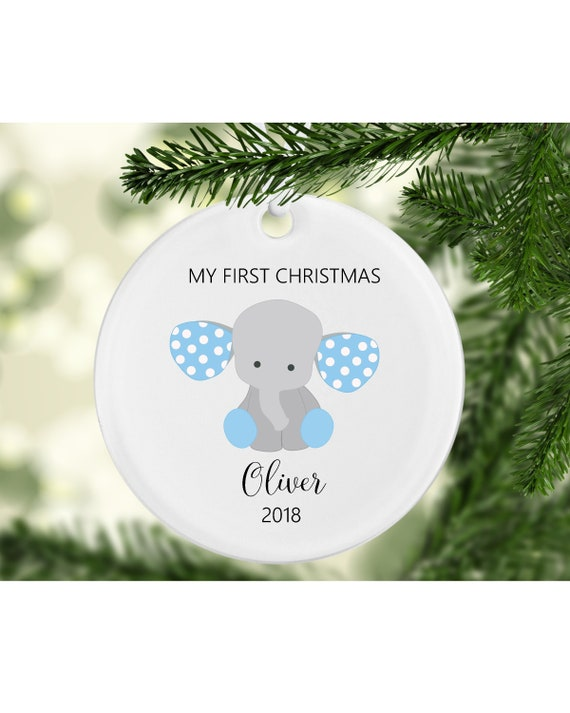 My First Christmas Ornament Baby Ornament Baby Boy Ornament Etsy