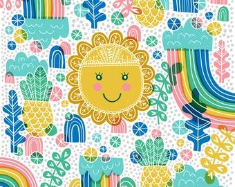 Sunshine & Rainbows - wall art - print