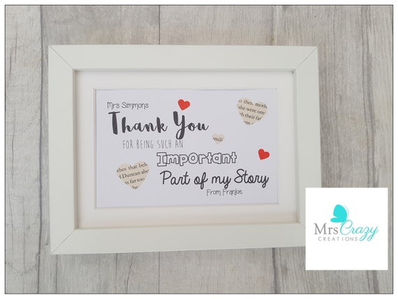 thank you for being part of my story etsy