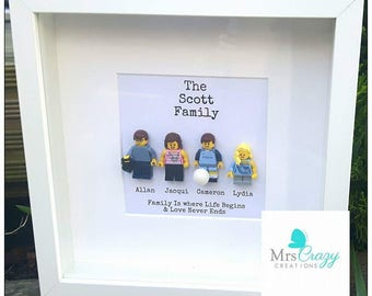 Personalised lego family frame