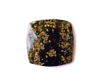 Rare Narsarsukite natural stone cabochon  36 х 37 х 5 mm , russian rare cab