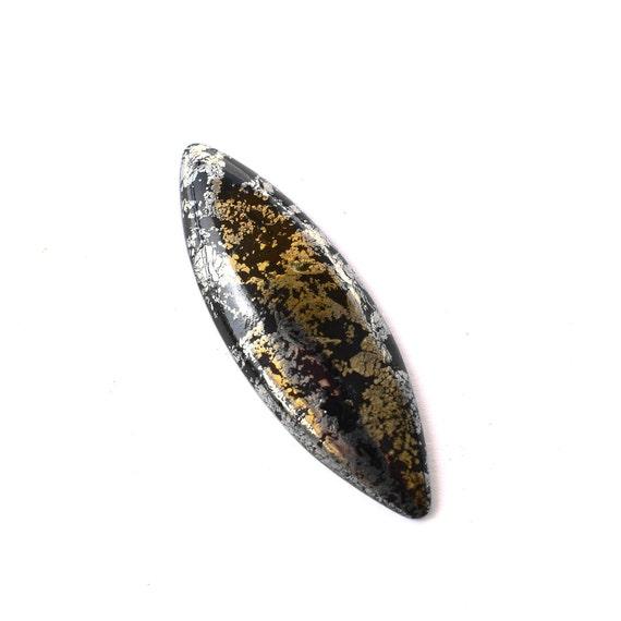 Ardoise avec cabochon de pyrite 44 44 pyrite x 15 x 5 mm 903e59