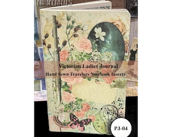 Victorian Ladies Journal. Travelers Notebook Insert Parchment Journal. 80 Pages. Choose from 10 Travelers Notebook Sizes.