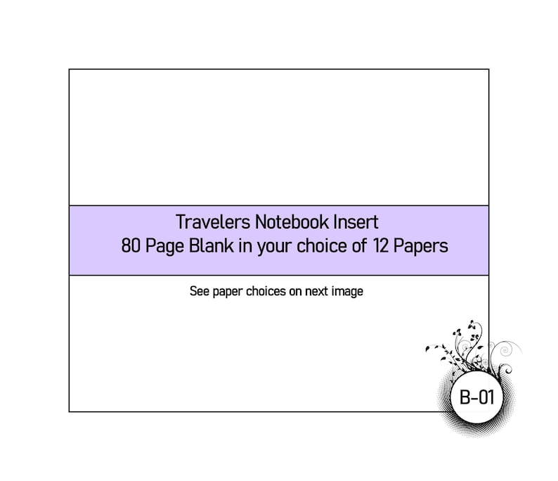 Blank in Your Choice of 12 Different Papers.  Traveler's image 0