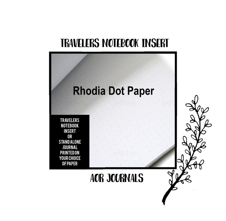 Rhodia Dot Paper. Traveler's Notebook Hand Sewn Insert: image 0