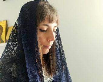 Mantilla lace veil to attend Holy Catholic Mass, chapel veil
