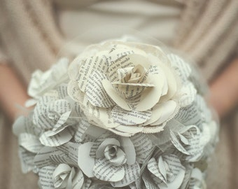 Bride's bouquet with paper roses