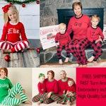Matching Family Christmas Pajamas, Personalized Family Christmas PJs, Embroidered Family Christmas PJs,