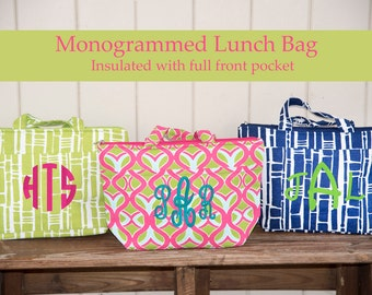 Monogrammed Lunch Bag - Monogram Lunch Box - Kids Lunch Box - Monogram Insulated Lunch Bag - Teacher Gift - Lunch Tote