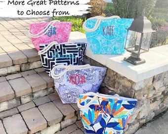 Custom Monogrammed Beach Bag, Personalized Beach Bag, Teacher Gift, Bridesmaid Gift, Overnight Bag, Sorority Gift