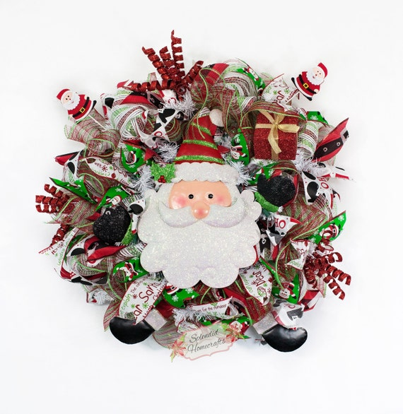 Reduced Light Up Santa Wreath Santa Wreath Santa Christmas