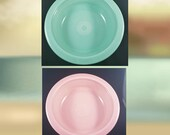 Homer Laughlin Fiestaware Choice of Large 40oz. Bowl in Rose (pink), or Green RETIRED