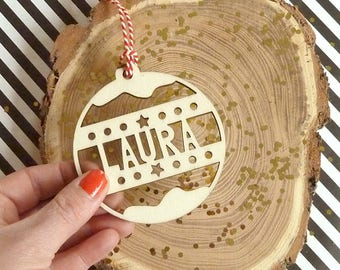 Name Christmas Bauble Personalized