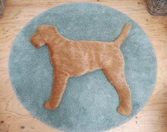 Border Terrier Rug, Dog Rug, Fur Rug, Rug, Pet, Animal, Shaped Rug, Puppy, Children's Rug, Floor Mat, Brown, Animal Lover Gift, Wall Hanging