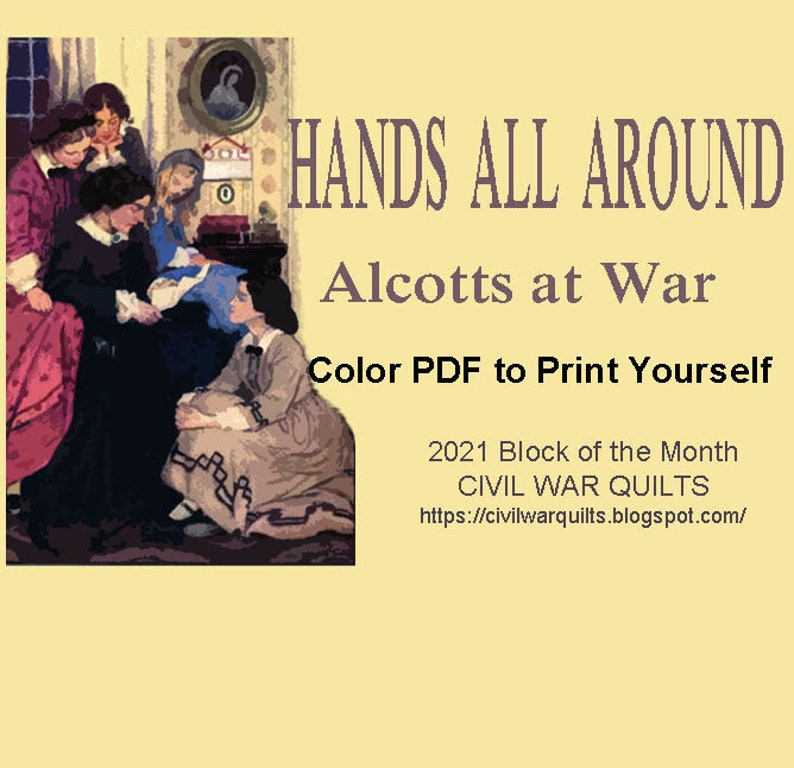 Hands All Around: Alcotts at War 12 pieced stars inspired by image 0