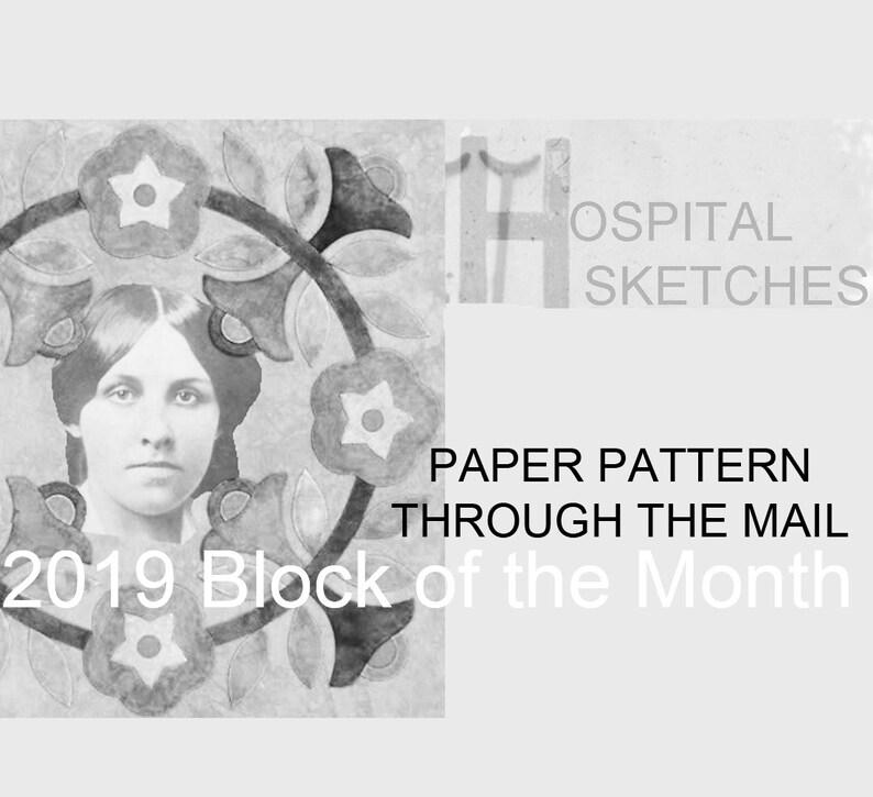 Hospital Sketches. 2019 Applique BOM from Barbara image 0