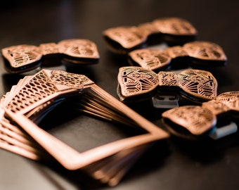 3D Printed Art Deco Bow Ties and Pocket Squares