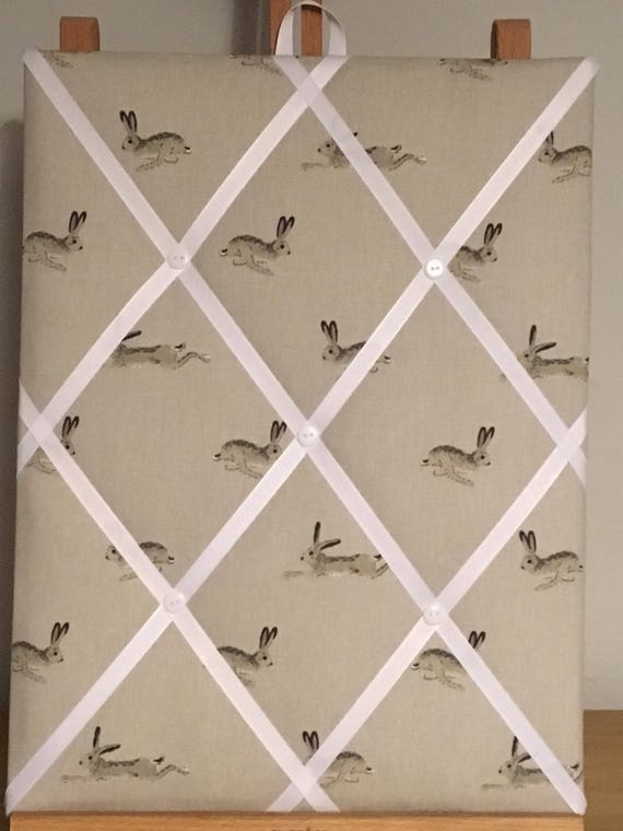 Hand Made Fabric Notice Board In Sophie Allport Fabric
