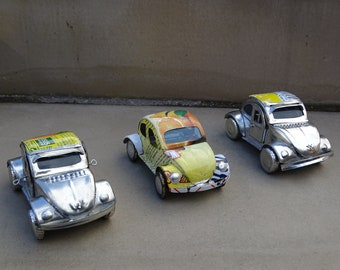 Recycled Tin VW Beetle
