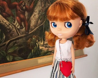 Going to the museum, dress set for Blythe & Licca