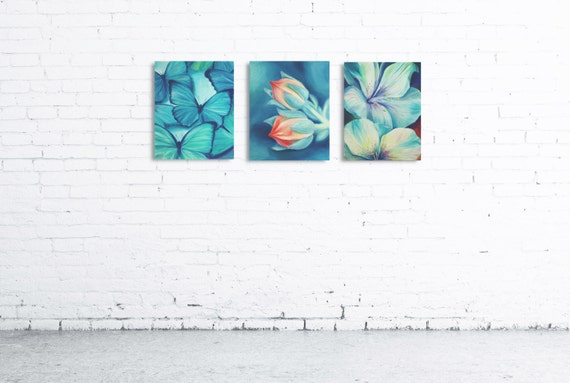 Print On Canvas Of My Painting Butterfly Etsy