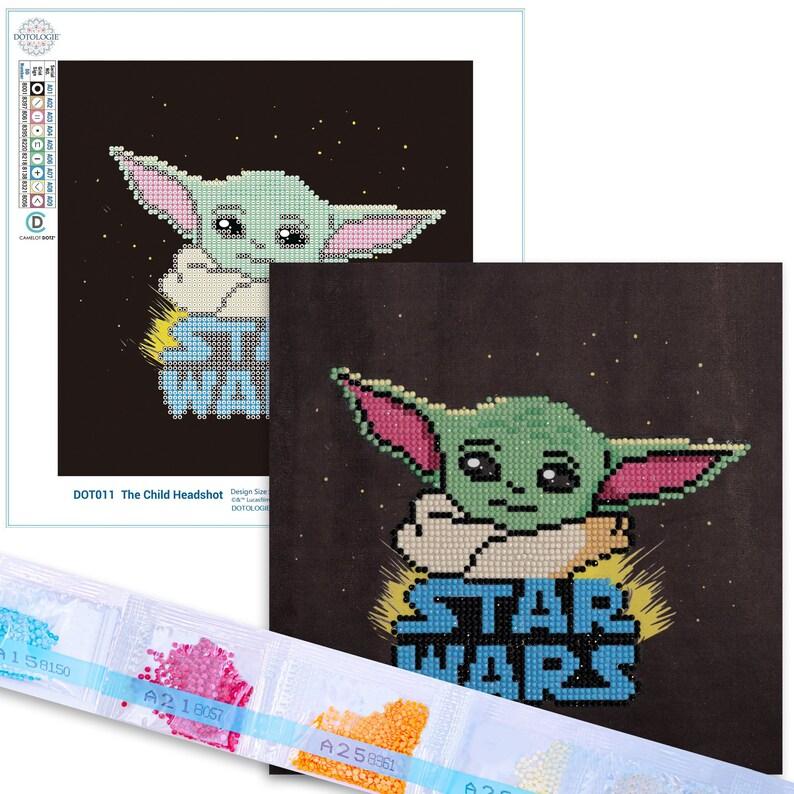 DIY 5D Baby Yoda The Mandalorian Diamond Painting Kit Diamond Art Painting Kit Paint by Number with Gem Partial Drill /& Dotz 8.7 x 8.7