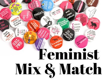 Pinback Button Button Set Funny Gift Button Deal Feminism Funny Buttons Graduation Gift Pins Gay Feminist 3 Buttons