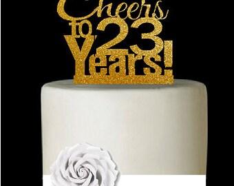 23rd Birthday Cake Topper Etsy