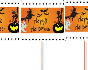 Happy Halloween Witch and Ghost Party Cupcake Picks -12pack
