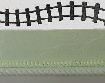 2pack Train Tracks Paper Layon Cake Decoration