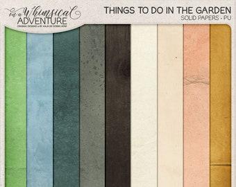 Nature Inspired, Outdoor Gardening Cardstock, Instant Download, Unicolor Cardboard, Solid Color, Digital Scrapbooking, Textured Card Stock