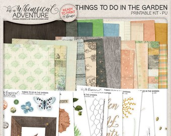 In The Garden Downloadable Junk Journal Gardening Nature Inspired Kit Spring Scrapbook Album Gardener Gift Secret