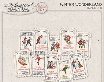 Admit One Winter Birthday Party Decorations Printable Tickets For Events Let It Snow Numbered Raffle To Print