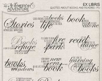 To Read, Ex Libris, Reading Quotes, Book Lover Gift, Bookworm Gift Ideas, Instant Download, Digital Photoshop Brushes, Bookish Items