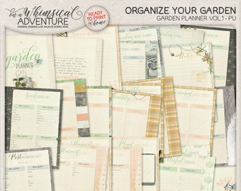 Printable Garden Planner, Seed Starter Log, Harvest Tracker Log, Perpetual Planner Templates, Gardener Gift Idea For Women, Instant Download