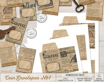 Seed Saver Envelope, Paper Packet, Printable Envelope Template, Vintage Style, Kraft Paper Bag, Instant Download, DIY Gift Ideas For Men
