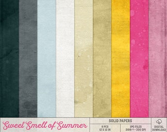 Textured Card Stock, Summer Scrapbook Paper, Pink And Yellow, Digital Backgrounds, Colorful Paper Pack, Textures, Instant Download