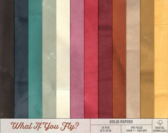 Card Stock What If You Fly, Erin Hanson, Instant Download, Digital Scrapbooking, Folded Texture, Solid Paper Pack, Art Journaling Background