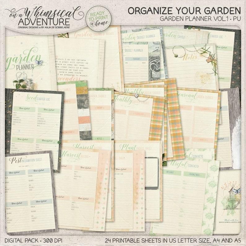 Printable Garden Planner Seed Starter Log Harvest Tracker image 0