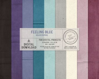 Solid Paper, Feeling Blue, Sadness, Self-care Kit, Anti-Anxiety, Art Journal Pages, Express Yourself, Mental Health Art, Instant Download