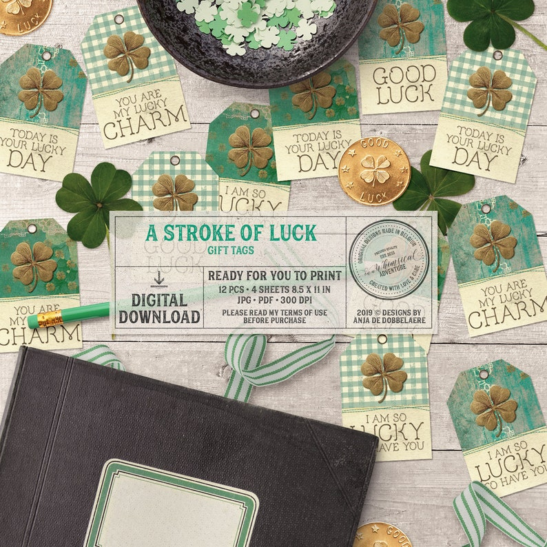 Teacher Appreciation Tags Printable Lucky Charm Gift Tags Lucky Charms cereal treat by SUNSHINETULIPDESIGN St Patrick/'s Day Gift Tags