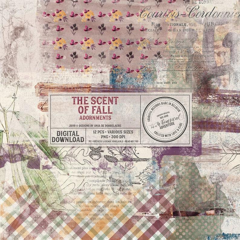 Autumn Clip Art Fall Digital Scrapbook Instant Download image 0