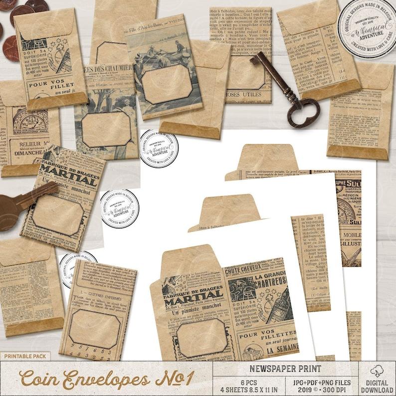 Seed Saver Envelope Paper Packet Printable Envelope image 0