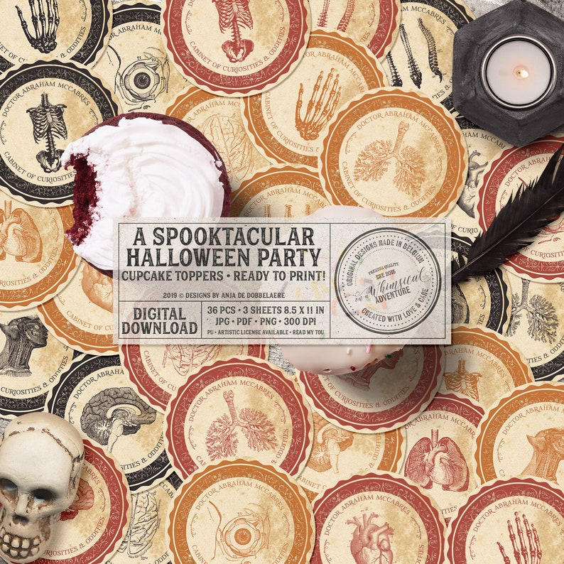 Spooky Halloween Party Decor Anatomical Cabinet Of image 0