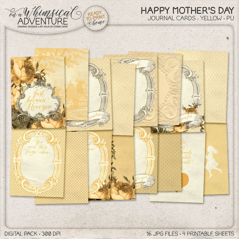 Gift For Mother Pocket Cards Printing Project Life Cards image 0