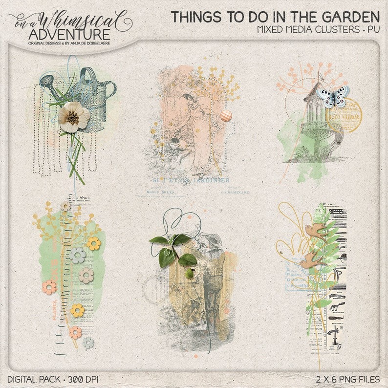 In The Garden Nature Inspired Overlays Instant Download image 0
