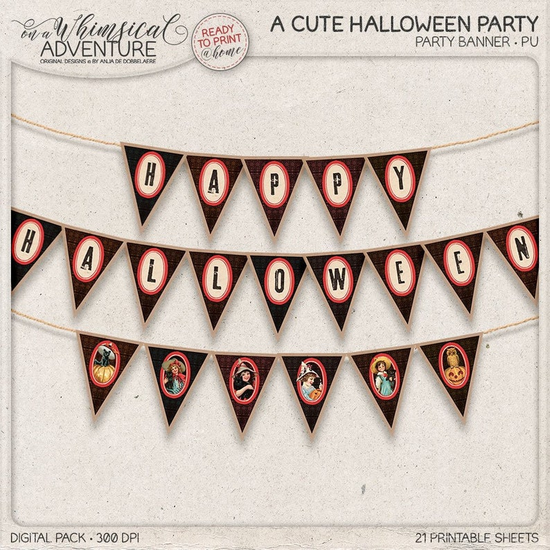 photograph regarding Halloween Banner Printable referred to as Halloween Banner, Printable Banner, Get together Elements, Halloween Decoration, Get together Recommendations, Printable Social gathering Banner, Immediate Obtain, Garland