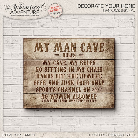 Wooden Signs Man Cave Decor Sign Gift For Men