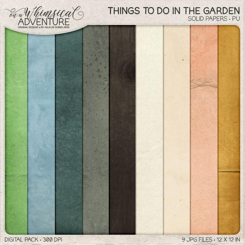 Nature Inspired Outdoor Gardening Cardstock Instant image 0