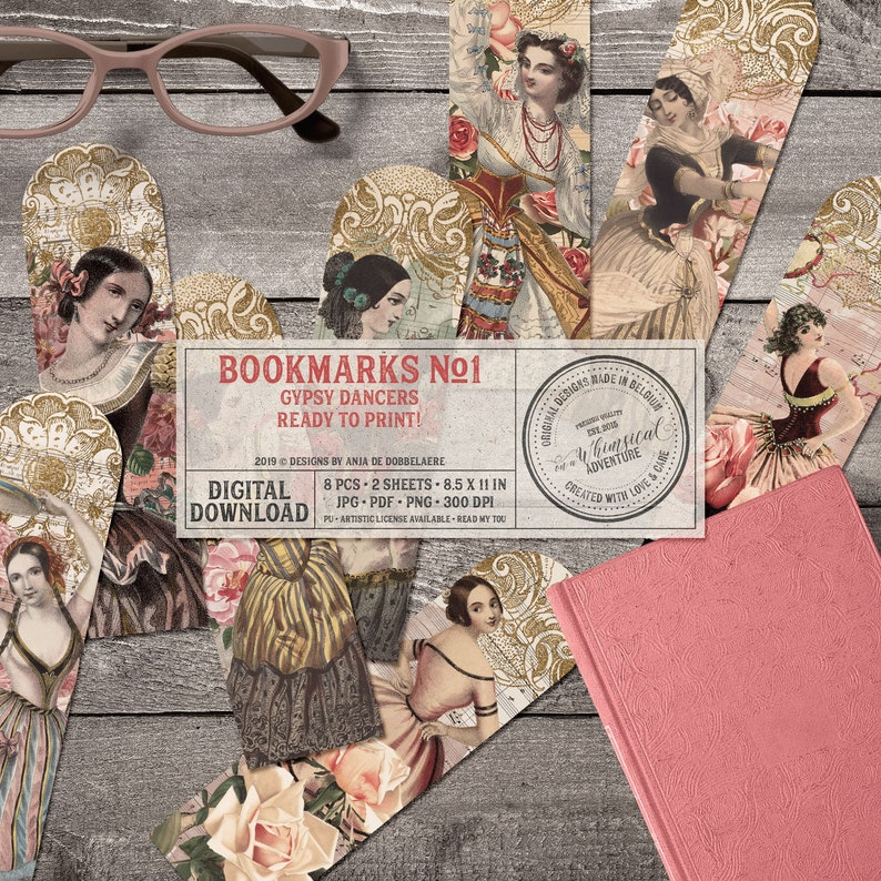 Bookish Gifts For Women Sheet Music Gypsy Soul Boho Chic image 0